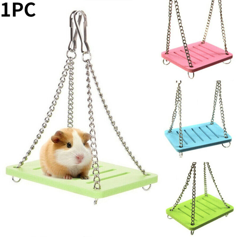 Toy Guinea Pig Parrot Gadget Small Animal Cage Pet Hamster Swing Hanging Shaking