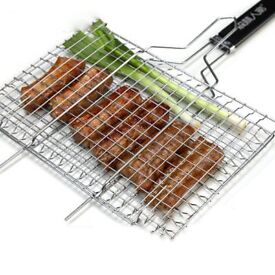 Barbecue Grilling Basket Stainless Steel BBQ Tool for Fish Vegetables Steak Chops and Many OtherFood