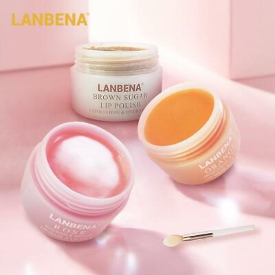 LANBENA Lip Film Mask Moisturizing Refreshing Scrub Exfoliates Hydrating S
