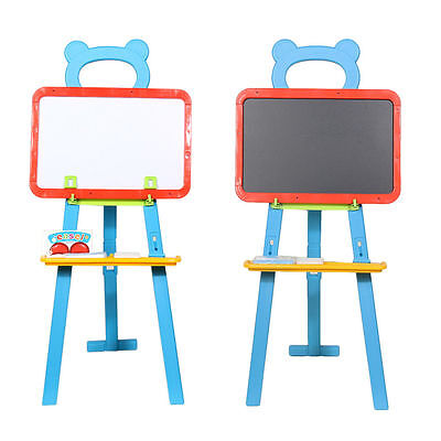 84Pc 3 in 1 Childrens Kids LEARNING EASEL Stand Chalkboard Magnetic White Board