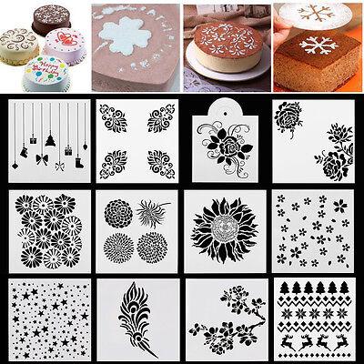 Wedding Baking (Various Pattern Cake Stencil Cookie Fondant Baking Sugarcraft Tool Wedding)