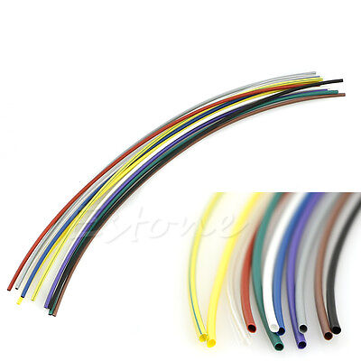 55pcs 5size Assortment Polyolefin 21 Heat Shrink Tubing Sleeving Wrap Kit New