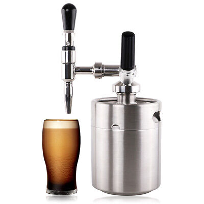 2l Nitro Cold Brew Coffee Maker Machine Stainless 304 Nitrogen Keg Kitchen Bar