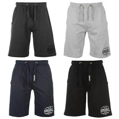Lonsdale Herren Sweat Shorts Fitness Hose Kurze Sport Hose S M L XL 2XL 3XL neu ()