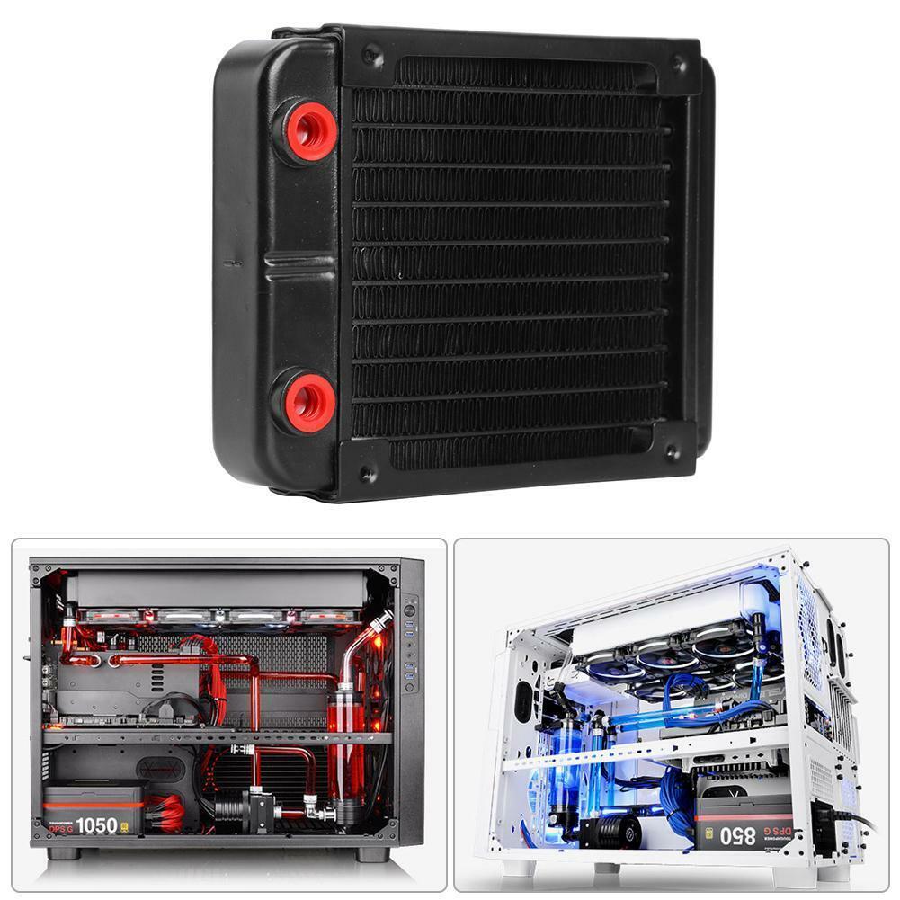 120mm Aluminum Computer Radiator Cooler 10 Tubes CPU Heat Si