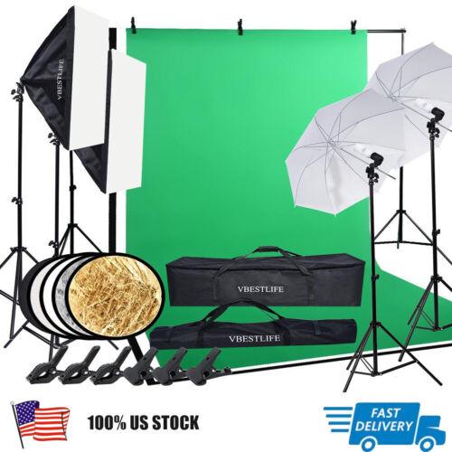 photography studio kit backdrop stand softbox umbrella