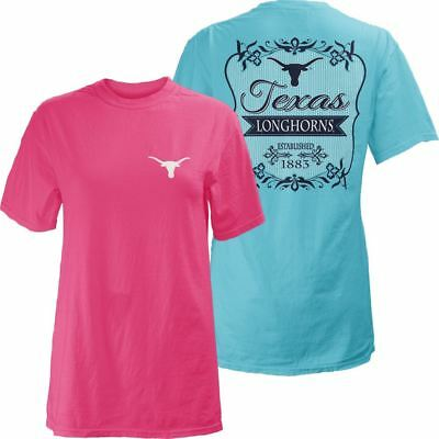Texas Longhorns Women's T-Shirt Flora NCAA Comfort Colors Texas Longhorns Comforter