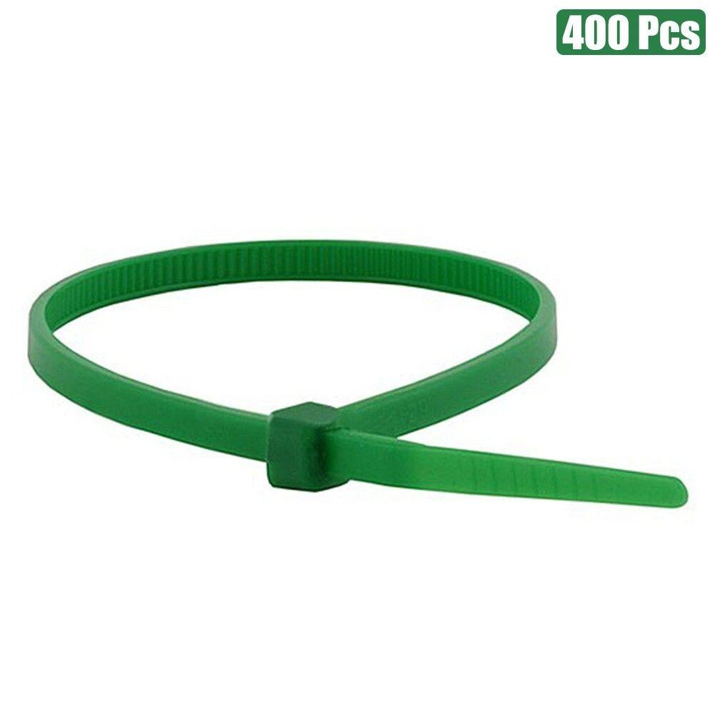 """400 Pcs Green 8/"""" Nylon Plastic Cable Wire Zip Tie Cord Strap Fasten Wrap 40 Lbs"""