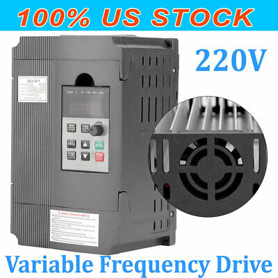 2hp Ac220v 1.5kw Single-phase Speed Control Variable Frequency Drive Inverter 8a