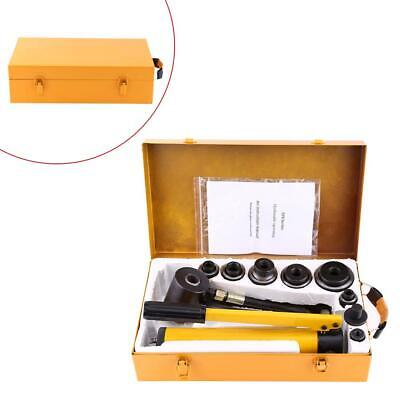 10 Ton Hydraulic Knockout Punch Hand Pump 6 Dies Hole Tool Driver Kit Wcase New
