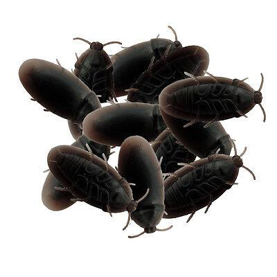12 Bulk Creepy Crawly Cockroaches Halloween Prank Joke Bugs Plastic Toy Roaches - Halloween Toys Bulk