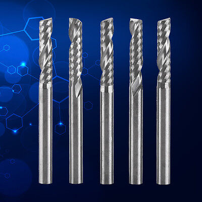 5pcs Tungsten Carbide Pcb Single Flute End Mill Milling Cutter Tool 3.175x 12mm