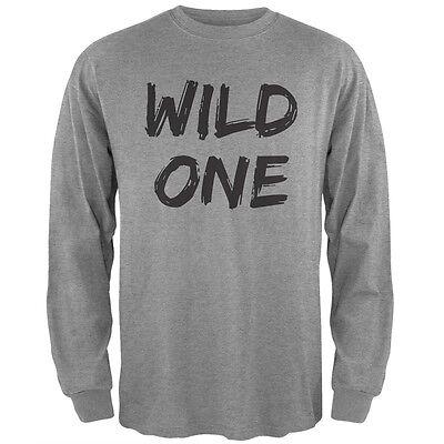 Wild One Heather Grey Adult Long Sleeve T-Shirt ()