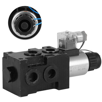 13 Gpm Hsv6-c Hydraulic Solenoid Operated Selector Diverter Valve 12 Volt Dc