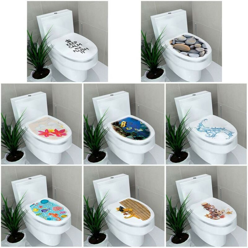 Home Decoration - Stereo Toilet Seat Wall Sticker Bathroom Decoration Decal PVC Mural Decor UK