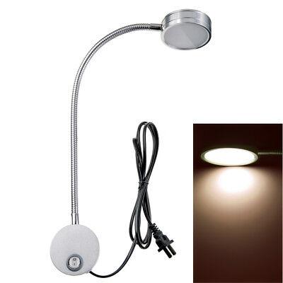 Wall Mount Reading Light Lamp Flexible Gooseneck or Bedside Reading Studio 5W