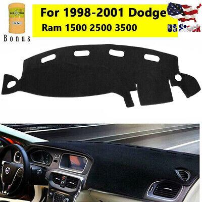 For 1998-2001 DODGE RAM 1500 2500 3500 Dashmat Dashboard Dash Cover Mat Carpet