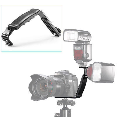 Neewer L-Shape Bracket Holder Mount for Flash Light Camera Camcorder W/ Hot Shoe