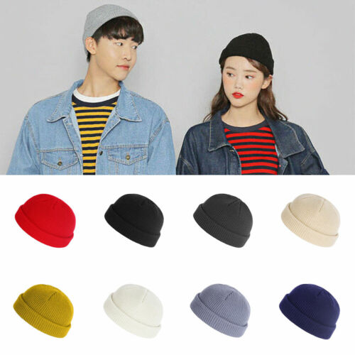 NEW Unisex Men Women Beanie Hat Warm Ribbed Winter Turn Ski