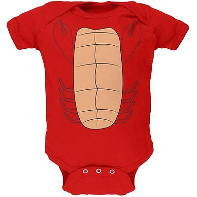 Halloween Lobster Costume Soft Baby One Piece (Infant Lobster Halloween Costume)