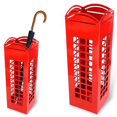 Portaombrelli Porta ombrelli Ferro Design BAKAJI10 Quadrato Stand Rosso London