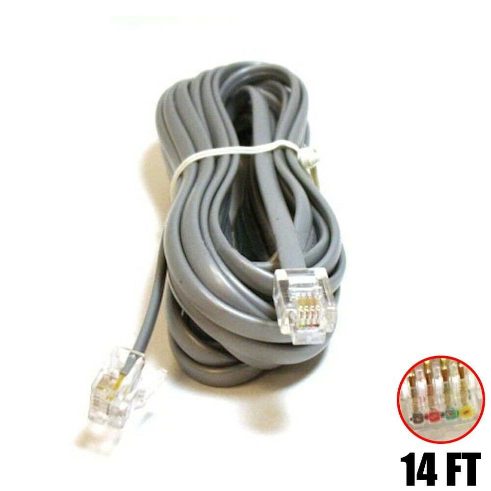 25ft Phone Cable Wire RJ45 RJ-45 8P8C Straight FOR DATA Telephone Line Cord