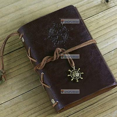 Vintage Classic Retro Leather Journal Travel Notepad Notebook Blank Diary TR