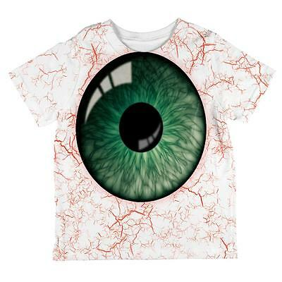 Halloween Green Creepy Eyeball Costume All Over Toddler T - Creepy Toddler Costumes