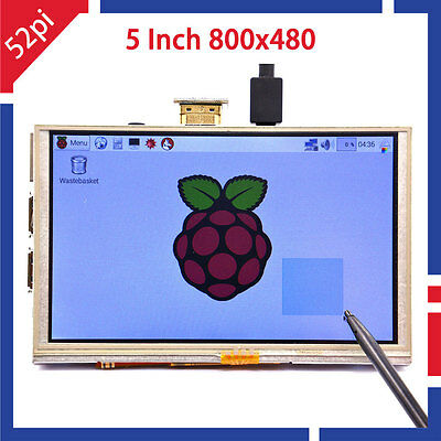 5 Inch 800x480 Hdmi Tft Lcd Touch Screen For Raspberry Pi 32 Model Bb Ab