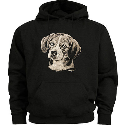 Beagle dog breed sweatshirt Men's size sweat shirt black hoodie gift dog lovers Beagle Dogs Mens Hoodie