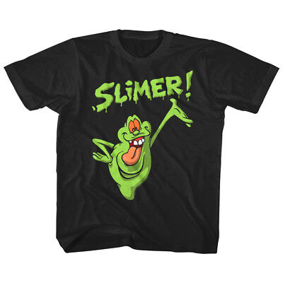 Tv Toddlers (Ghostbusters Kids T Shirt Happy Slimer Ghost TV Cartoon Toddler Boy Girl)