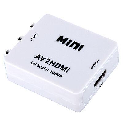 Mini Composite AV CVBS 3 RCA to HDMI Video Converter Adapter 720p 1080p Upscaler on Rummage