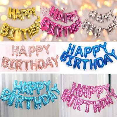 HAPPY BIRTHDAY Foil BALLOON SELF INFLATING BALLOONS BANNER PARTY DECORATION GIFT