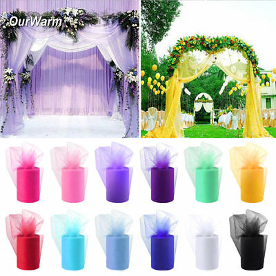 "6""x 100YD Tulle Roll Spool Tutu Wedding Party Gifts Wrap Fabric Net Craft Decor"