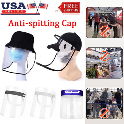 Safety Face Shield Clear Full Cover Anti-Fog Eyes Protective Cap Fisherman Hat