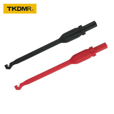 Tkdmr 2pcs 4mm Automotive Test Lead Kit Power Probe Wire-piercing Clip Puncture