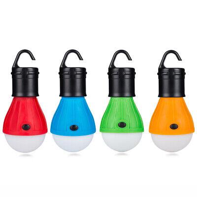 Mini Portable Lantern Tent Light 3LED Bulb Lamp Hanging Hook Flashlight -