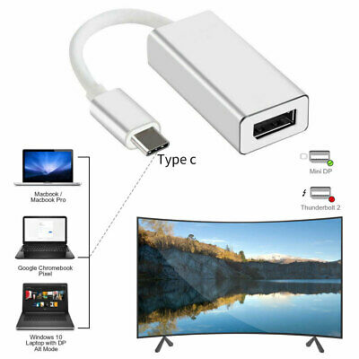 Thunderbolt 3 USB-C to DisplayPort Cable 4K@60Hz Type-C Convert Standard DP Hot
