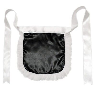 Black Nurse or Maid Apron with White Lace Ruffles ~ HALLOWEEN COSTUME DRESS UP