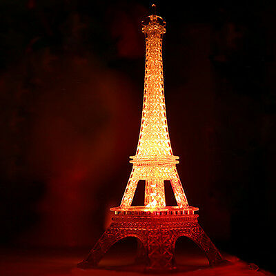 3D Eiffel Tower Bedroom Night Color Changing LED Desk Table