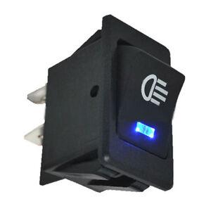 DC 12V 35A Universal Car Fog Light Rocker Switch Blue LED Dash Dashboard