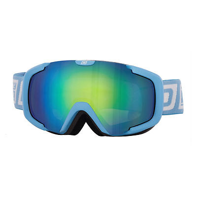 DIRTY DOG 54179 STAMPEDE ADULT SNOW ~ SKI GOGGLES SKY BLUE/GREEN BLUE FUSION