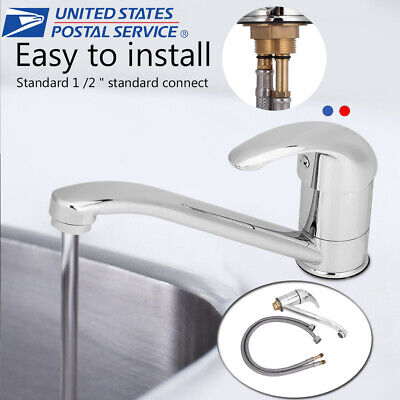Modern Nickel Kitchen Faucet Spout Sink Single Hole Mixer Tap Waterfall Bathroom Lavatory Faucet Kitchen
