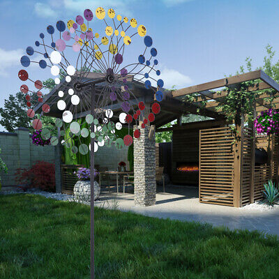 Colourful Metal Kinetic Windmill Wind Spinner Garden Lawn Yard Park Decoration