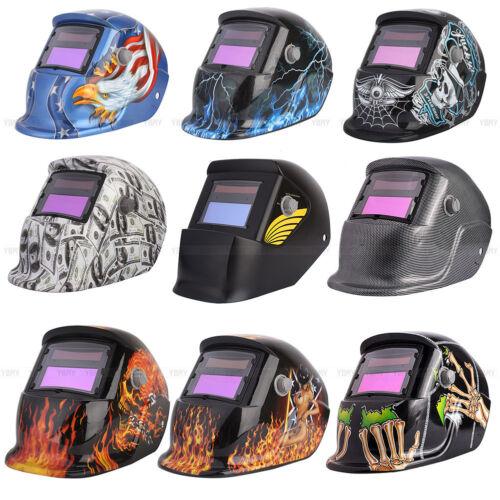 Auto Darkening Welding Helmet Mask Welders Arc Tig Mig Grinding Solar Powered