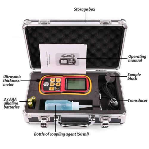 LotFancy Digital Ultrasonic Thickness Gauge Tester Meter, Range 1.2-220mm GM100