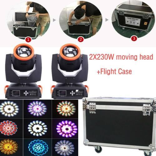 2PCS 7R Sharpy Beam 230W 7R Moving Head Stage Light with Fli