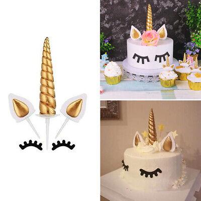 10er Pack Einhorn Cake Topper Kuchendeckel Tortendeko für Kinder Baby Geburtstag (Kuchen Toppers Kinder)