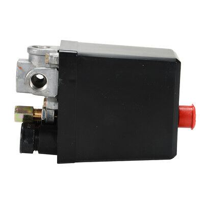 Air Compressor Pressure Switch Control Valve Heavy Duty 90-120 Psi 240v Black