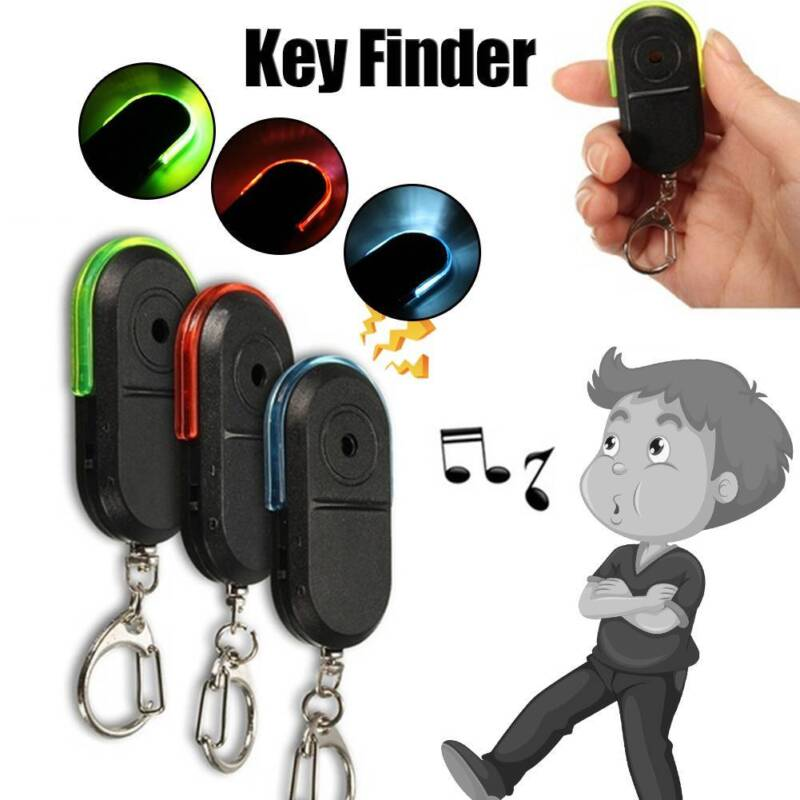 Wireless Anti-Lost Alarm Key Finder Locator Keychain Whistle Sound LED Light CH